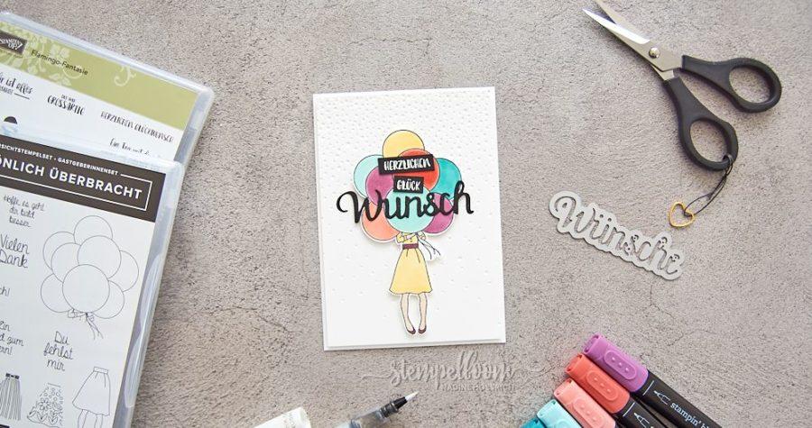 bunte Glückwunschkarte mit Ballons | PapierverSUchung | Stampin' Up! Persönlich Überbracht