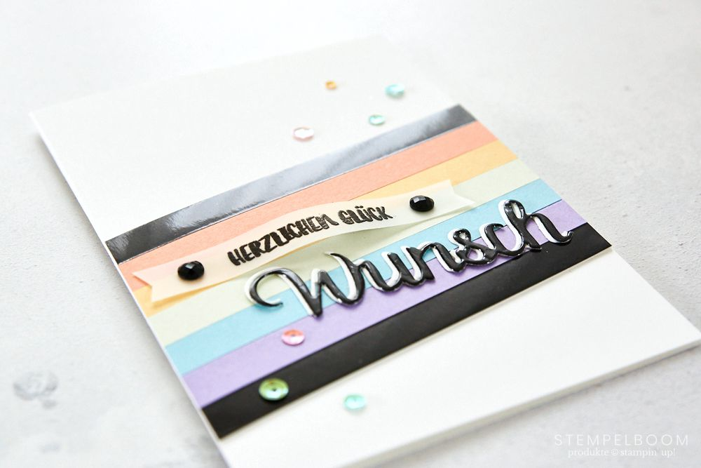 Regenbogenkarte mit Stampin' Up! | clean and simple | stempelboom
