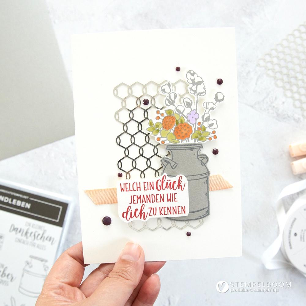 """Karte mit """"Landleben"""" von Stampin' Up! #stempelboom #cas #cleanandsimpel #card #cardmaking #stampin #stempeln #diy #selbstgemacht #handmade"""