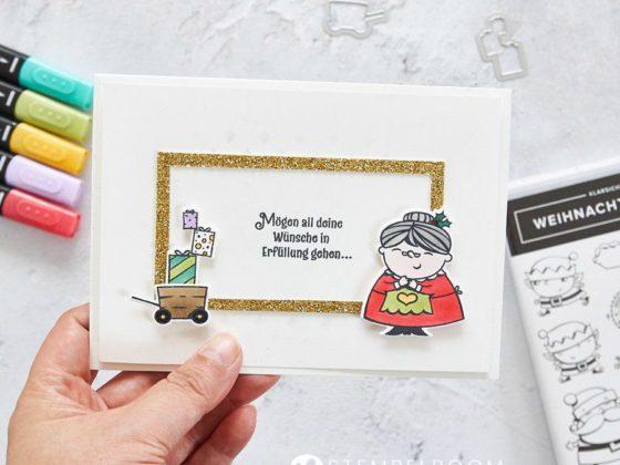 """Weihnachtskarte mit der Produktreihe """"Weihnachtswerkstatt"""" von Stampin' UP! #stempelboom #weihnachten #xmas #christmas #cardmaking #stampin #karte #diy #selbstgemacht #stempel #karte"""