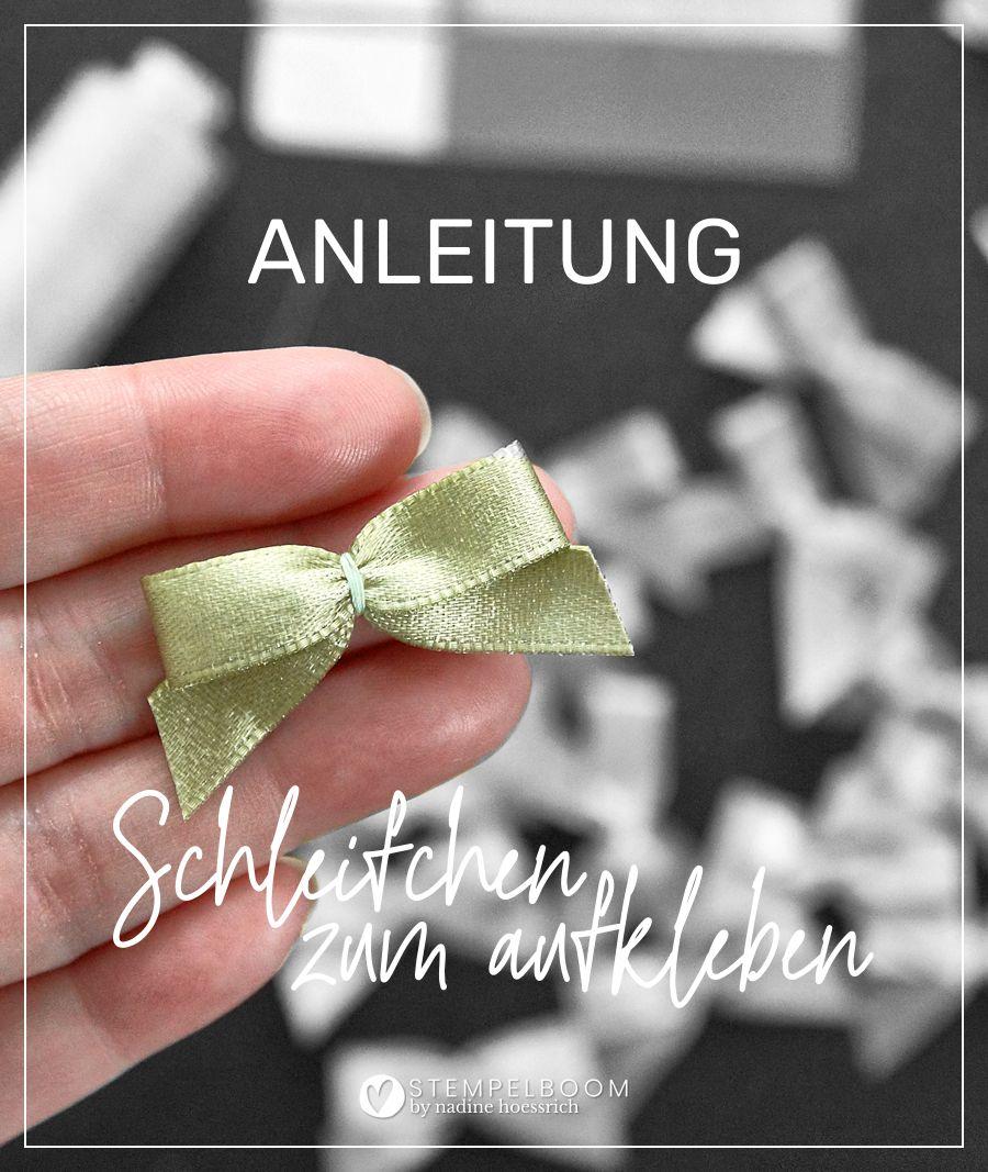 Anleitung: Schleifchen zum aufkleben #stempelboom #schleife #anleitung #hilfe #tutorial #accessoires