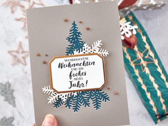 """Weihnachts-Geschenke + Weihnachtskarte in passenden Farben - mit der Produktreihe """"Weihnachtszeit"""""""