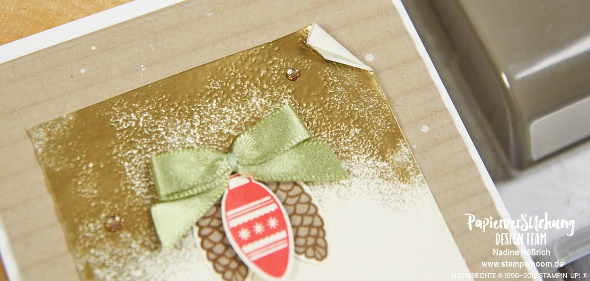 Rustikale Weihnachtskarte mit Stampin' Up! und der Glühbirnen-Stanze