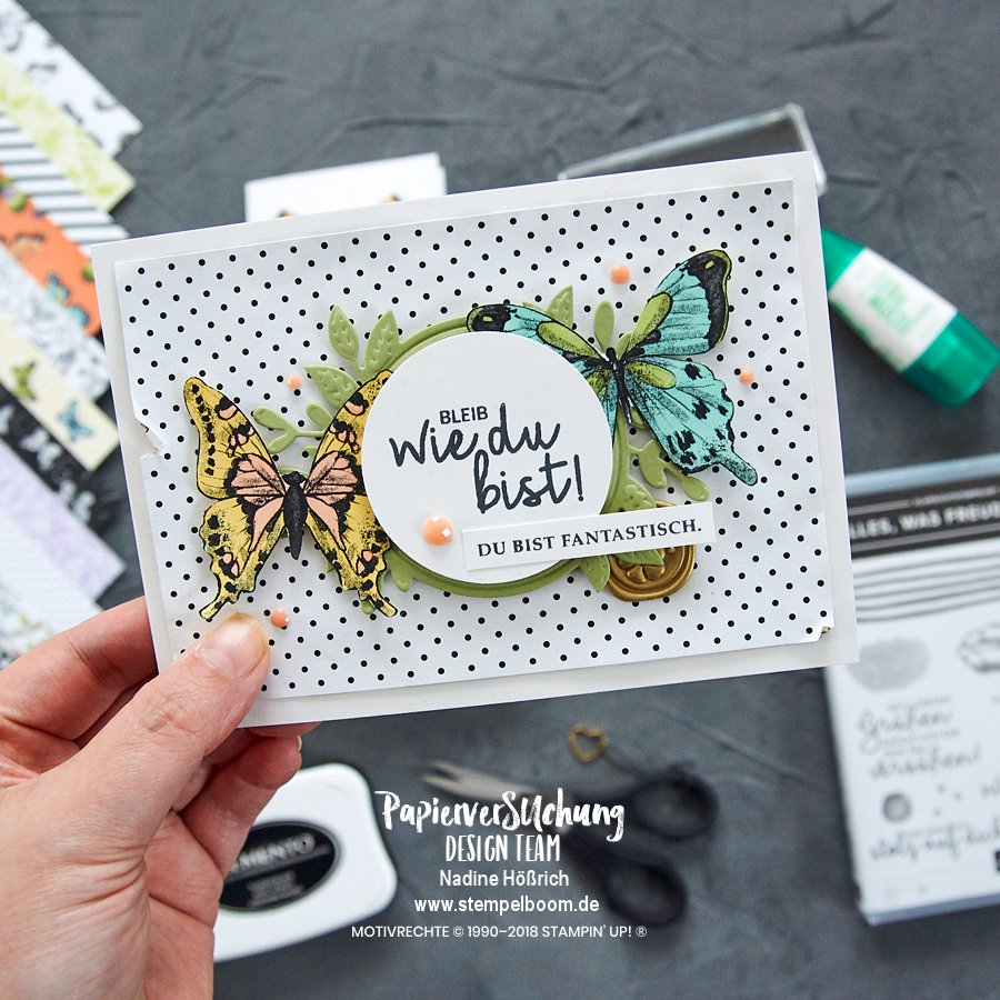 Schmetterlings-Karte mit der Sale-A-Bration von Stampin' Up!