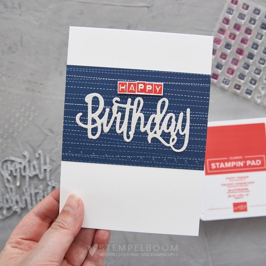 Schnelle und einfache Geburtstagskarte #cas #clean #cleanandsimple