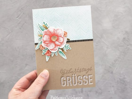 Geburtstagskarte mit Painted Seasons